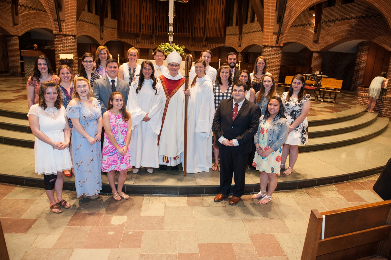 21 Students receive the Sacraments of Initiation